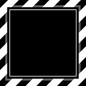 Fashionable Black And White Stripe Frame Template For Background Copy Space, Banner Frame Striped Aw poster