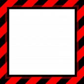 Warning Sign Red And Black Stripe Frame Template For Background And White Copy Space, Banner Frame S poster