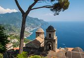 View Over Gulf Of Salerno From Villa Rufolo, Ravello, Campania, Italy poster