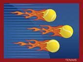 Hot flaming tennis balls