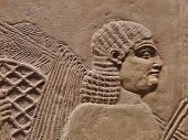foto of babylonia  - Ancient Assyrian wall carvings of men with long hair - JPG