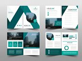 Green Abstract Triangle Annual Report Brochure Design Template Vector. Business Flyers Infographic M poster