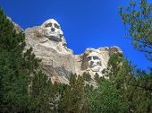 stock photo of mount rushmore national memorial  - Scenic View of Mount Rushmore - JPG