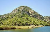 stock photo of dalyan  - Riverside of Dalyan in Mugla Province Turkey - JPG