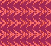 Vector Geometric Pattern With Small Triangles, Pyramid Shapes, Arrows, Grid, Net. Abstract Minimal T poster