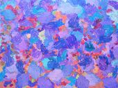 Colorful Abstract For Background And Texture. Oil Painting On Canvas.brush Strokes Well Visible.oil  poster