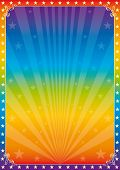 stock photo of carnival brazil  - Rainbow star circus - JPG