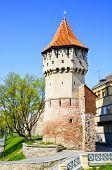 image of sibiu  - view on defense tower in Sibiu Romania - JPG