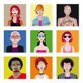 Постер, плакат: Молодые люди Аватар Set