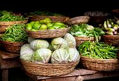 Vegetables At Indian Market