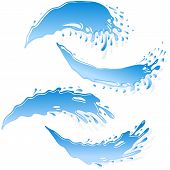 picture of water jet  - The water banners made in the form of a jet of water - JPG
