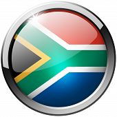 South Africa Round Metal Glass Button