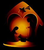 image of holy family  - Christmas decoration with Holy Family - JPG