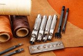 stock photo of leather tool  - Craft tool for leather accessories - JPG