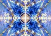 stock photo of kaleidoscope  - A light blue kaleidoscope textured pattern background - JPG