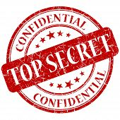 stock photo of top-secret  - Top Secret Red grunge stamp on white background - JPG