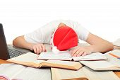 Student Sleep In Santa's Hat