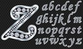 picture of iron star  - Silver alphabet with diamonds - JPG