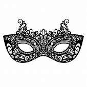 stock photo of venice carnival  - Beautiful Masquerade Mask  - JPG