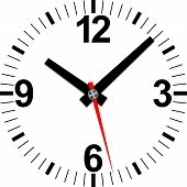 stock photo of analog clock  - Analog clock icon - JPG