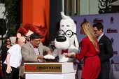 LOS ANGELES - FEB 14:  Sherman, Mr Peabody, Ty Burrell at the Mr. Peabody honored with Pawprints in