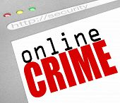 Online Crime - Web Screen And Text