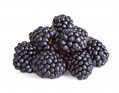 stock photo of blackberries  - Blackberries close - JPG