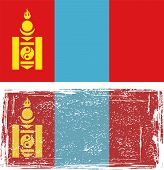 stock photo of mongolian  - Mongolian grunge flag - JPG