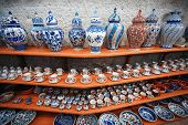 image of pottery  - Ceramic art at pottery shop - JPG