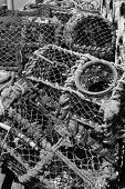 picture of lobster trap  - A view of Lobster Pots in Conwy - JPG