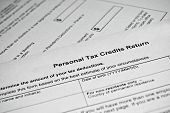 stock photo of income tax  - Canadian tax form - JPG
