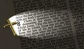 stock photo of bible verses  - The bible passage Romans 8 - JPG