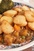 foto of rutabaga  - Lancashire Hotpot traditionally made from lamb topped with sliced potatoes - JPG