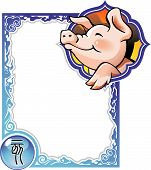 image of chinese zodiac animals  - Pig - JPG
