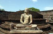 stock photo of polonnaruwa  - Buddha Statue in Vatadage Polonnaruwa Sri Lanka - JPG