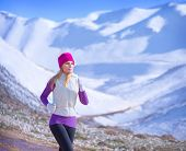 image of sportive  - Jogging outdoors - JPG