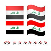 stock photo of euphrat  - Set of flags of Iraq eps 10 - JPG
