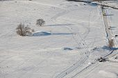 pic of nordic skiing  - Snowy park with cross - JPG