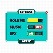 picture of asset  - game asset option menu theme vector art illustration - JPG