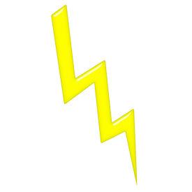 foto of lightning bolt  - 2d lightning that is isolated in white - JPG