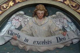 stock photo of deo  - Heavenly Angel declaring  - JPG