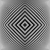 stock photo of distort  - Design monochrome geometrical illusion background - JPG