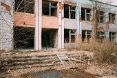 image of nuclear disaster  - Abandoned Store Interior In Chernobyl Zone - JPG