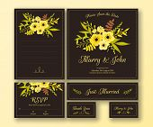 picture of thank you card  - Wedding set of various cards - JPG