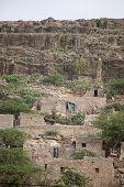 image of ethiopia  - Stone cliff dwellings in Dire Dawa - JPG
