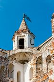picture of fortified wall  - The turret on the wall of the Vologda Kremlin - JPG