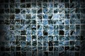 foto of ceramic tile  - Ceramic Tile Wall Scratched Background Texture Concept - JPG