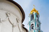 stock photo of trinity  - Closeup of the belfry in the Trinity Lavra of St - JPG