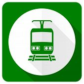 picture of railroad-sign  - train flat icon public transport sign  - JPG
