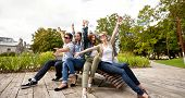 picture of teenagers  - summer holidays - JPG